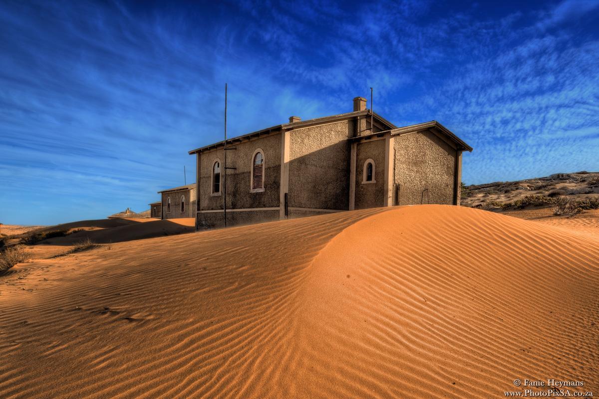 Kolmanskop Gost Town Houses in desert