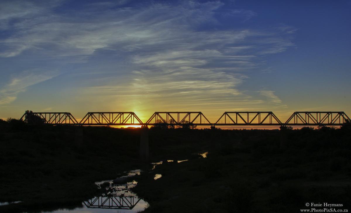 Old Train Bridge Sunset at Virginia