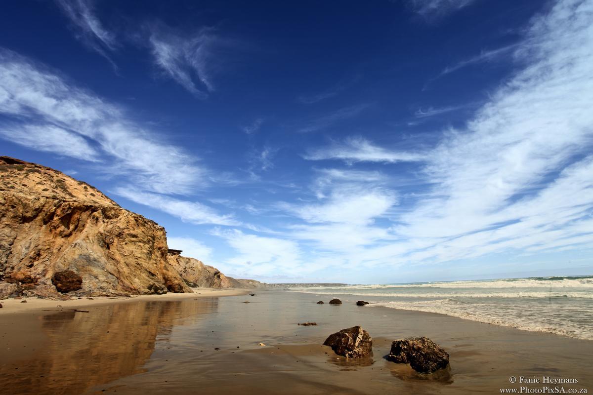 Rocks on the beach Crayfish hike West coast