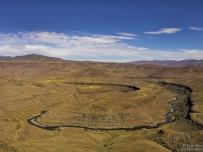Birds view Senqunyane River Lesotho