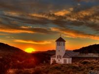 Church Sunset Aus Namibia Africa