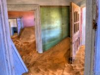 Kolmanskop HDR room filled with desert sand