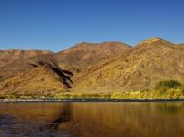 Orange River with Namibia Mountains in the background